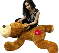 Personalized Giant Stuffed Dog 5 Feet Long Soft and Romantic, 2 Customized Names - $147.21