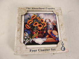 Absorba Stone New In Box Four Coaster Set - $3.99