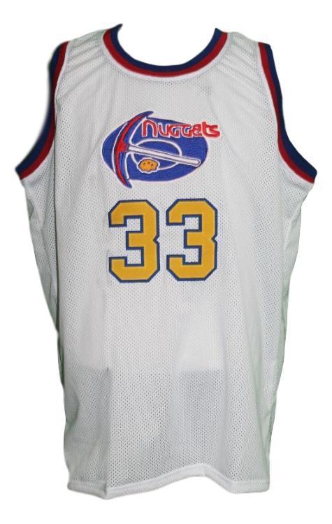 David thompson  33 denver aba retro basketball jersey new sewn white   1