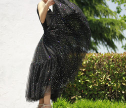 Black Tulle Party Skirt Women Tiered Layered Tulle Skirt Tulle Party Skirt Plus image 7