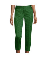 Worthington Sateen Cropped Pants Size 4 New Msrp $44.00 Green - $16.99