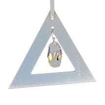 Aluminum and Crystal Triangle Ornament  Meteor image 1