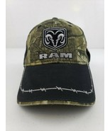 Dodge Ram Logo Mossy Oaks Camo Camouflage Barbed Wire Barbwire Hat Cap M... - $22.21