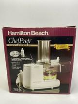 HAMILTON BEACH COMPACT FOOD PROCESSOR, ChefPrep MODEL# 70150 - $23.36