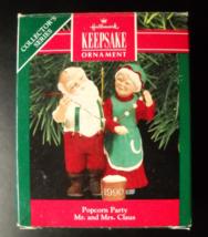 Hallmark Keepsake Christmas Ornament 1990 Popcorn Party 5th in Mr and Mr... - $5.99