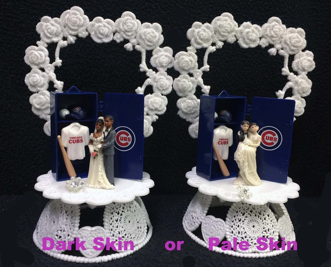 Chicago Cubs MLB Baseball Wedding Cake Topper Groom top Man Cave Sport Home Run - $39.90
