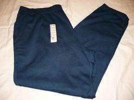 Terra & Sky Fleece Cinch Pants Blue Cove Plus 4X 28-30W Mid Rise Generou... - $14.25