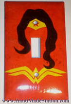 Wonder Woman comics Logo Light Switch Duplex Outlet Wall Cover Plate Home decor