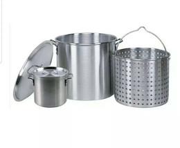 Professional Grade 80 Quart All Purpose Boiling Pot with Basket (3pc) pl... - $125.86