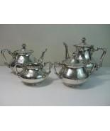 Antique Barbour Silver Co Quadruple Pat #2420 Silver Plate Coffee Tea 5p... - $490.05