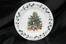 "Gibson Tree Trimmings Xmas Dinner Plates 10.5"" Set of 8 - $58.79"