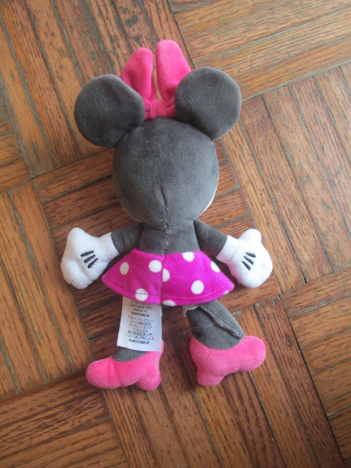 Disney BABY MINNIE MOUSE Plushed AUTHENTIC STORE Huggably Soft HTF Toy