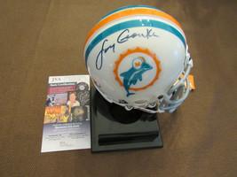 LARRY CSONKA SB 17-0 SEASON MIAMI DOLPHINS HOF SIGNED AUTO MINI HELMET J... - $247.49