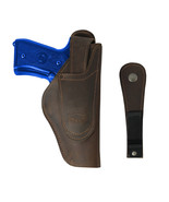 New Barsony Brown Leather 360Carry 12 Option OWB IWB Holster Full Size 9... - $64.99