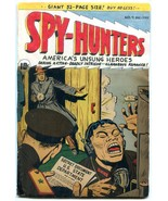 Spy-Hunters #9 1950- Commie cover- restored reading copy - $37.83