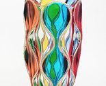 Red Sea vase bohemia crystal handpainted Murano style Venezia