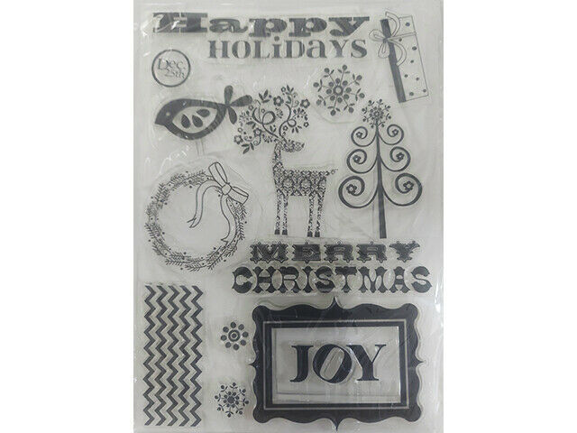 Merry Christmas and Icons Clear Stamp Set