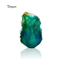 Daum Small Vase Fleur De Paon 05694 France Crystal New In Box - $1,016.35