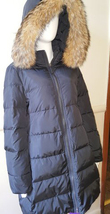 Authentic COACH Women's Long Legacy Puffer Down Fur Coat Jacket Belt - LARGE - $232.82