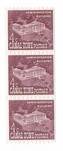 1960 Administration Bldg Strip of 3 Canal Zone Stamps Catalog Number 154 MNH