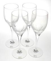 "Mikasa Symmetry Water Goblet Wine Glasses Set 4 Lead Crystal 9"" Tall Yug... - $39.99"