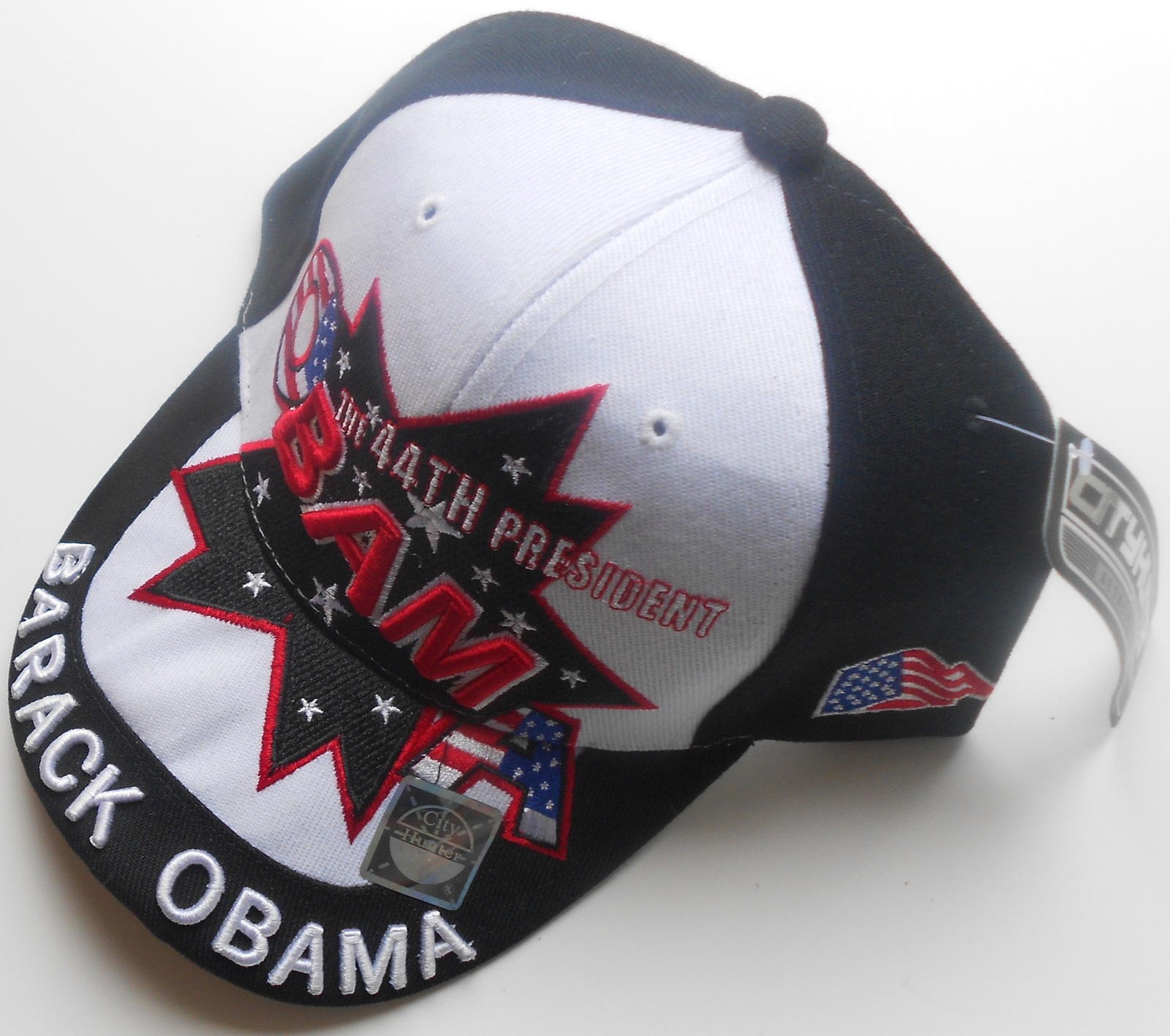 "with Presidential Seal. Barack Obama Black Baseball Cap /""44th President Obama/"""