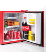 Retro Mini Refrigerator Coca-Cola 1.7 Cu Ft With Freezer Compartment Com... - £109.01 GBP