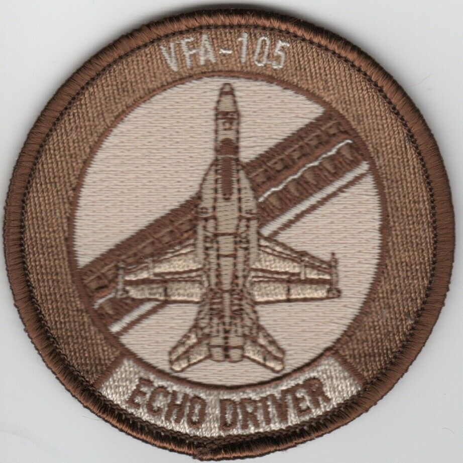 "Primary image for 3"" NAVY VFA-105 GUNSLINGER ECHO BABY BULLET DESERT EMBROIDERED JACKET PATCH"