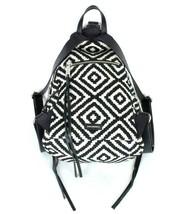 Rebecca Minkoff Black & White Geometric Backpack Shoulder Bag Satchel Purse - $113.84