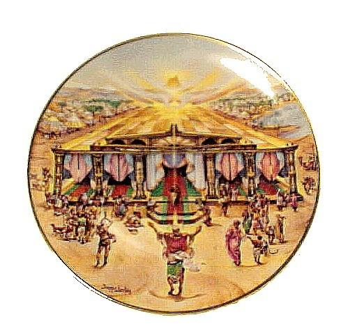 86734a the glorious tabernacle collectors plate promised land vintage christian religious