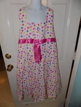 Bonnie Jean White W/Polka Dot Eyelet Dress Size 16 1/2 Girl's EUC - $16.59