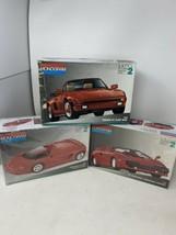 Sports Car Model Kit Lot 1:25 - Lamborghini Porsche Pininfarina Mythos M... - $53.20