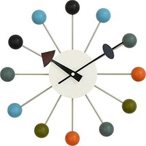 Tiandihe Wood Ball Wall Clock Silent Battery Operated Non Ticking 13 inc... - $88.92
