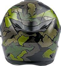 XS Fly Racing Sentinel Ambush Motorcycle Helmet Camo/Green/Grey DOT & ECE  image 3