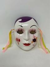 """Large Ceramic Wall Hanging Art Mime Mardi Gras Masquerade mask 7-1/2"""" - $14.84"""