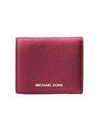 Michael Kors Jet Set Travel Flap Card Holder Case Mini Wallet mulberry NWT - $41.58
