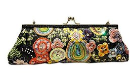 Vintage Embroidery Clutch Black Party Clutch Handbag