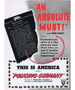 This is America Policing Germany WWII 1945 ORIGINAL Vintage 9x12 Industr... - $55.91
