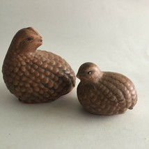 "Vintage Ceramic Figurine Quail Statue set of 2 Large 4""X4""X2.5""Small 2.5... - $8.51"