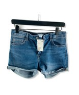 NWT $18 H&M Women's Blue Denim Cut Off Cropped Shorts Size 10 - $14.36