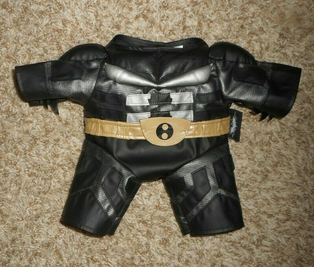 BUILD A BEAR BATMAN DARK KNIGHT BODY SUIT OUTFIT COSTUME FIT MOST STUFFED ANIMAL - $18.70