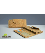 EcoQuote Long Wallet Round Side Strap Button Handmade Cork Eco Friendly ... - $31.00