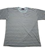 Vintage 80s 90s Polo Sport Ralph Lauren Light Blue Horizontal Striped T Shirt - $29.63