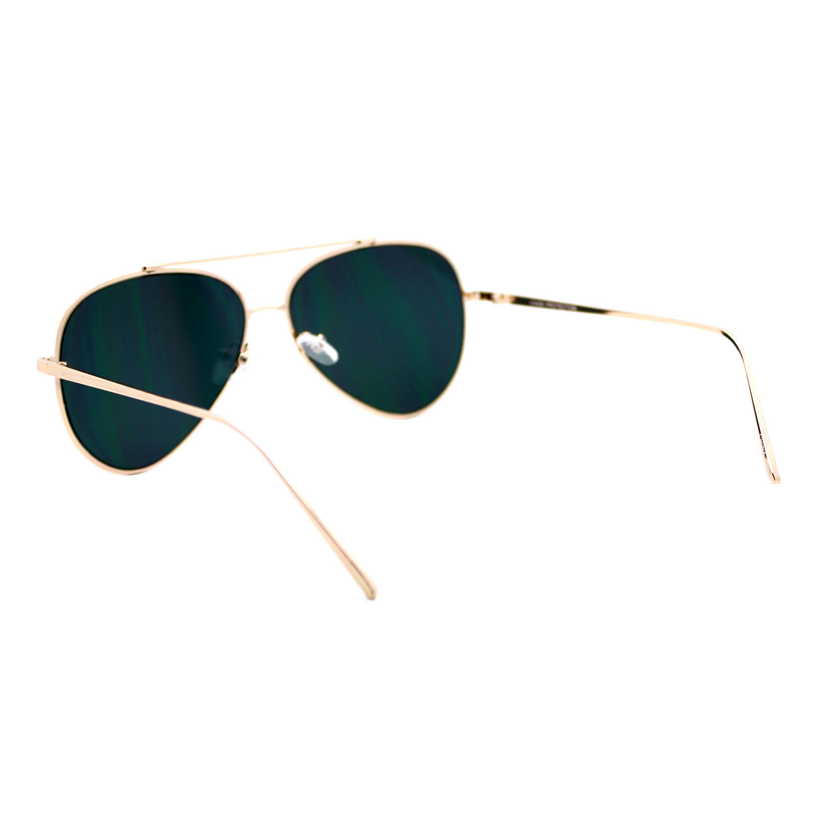 Pink Mirror Flat Lens Sunglasses Gold Metal Aviator Frame Womens Fashion