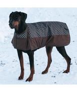 DURA TECH 600D WATERPROOF 200gr INSULATED POLKA DOT WINTER DOG COAT BLAN... - $24.50