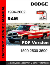 DODGE RAM 1994 1995 1996 1997 1998 1999 2000 2001 2002 SERVICE REPAIR MA... - $14.95
