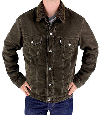 Levi's Men's Premium Classic Corduroy Fleece Lined Jacket Brown 705980010 size L