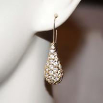 RARE Vintage Swarovski Rhinestone Drop Bridal Pierced Earrings Signed - $50.00