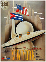 7907.Decoration Poster.Home Room wall art design.$88 travel New York Wor... - $11.30+