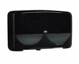 Tork 5555290 Elevation Bath Tissue Jumbo Roll Mini Twin Dispenser, Black - $10.39